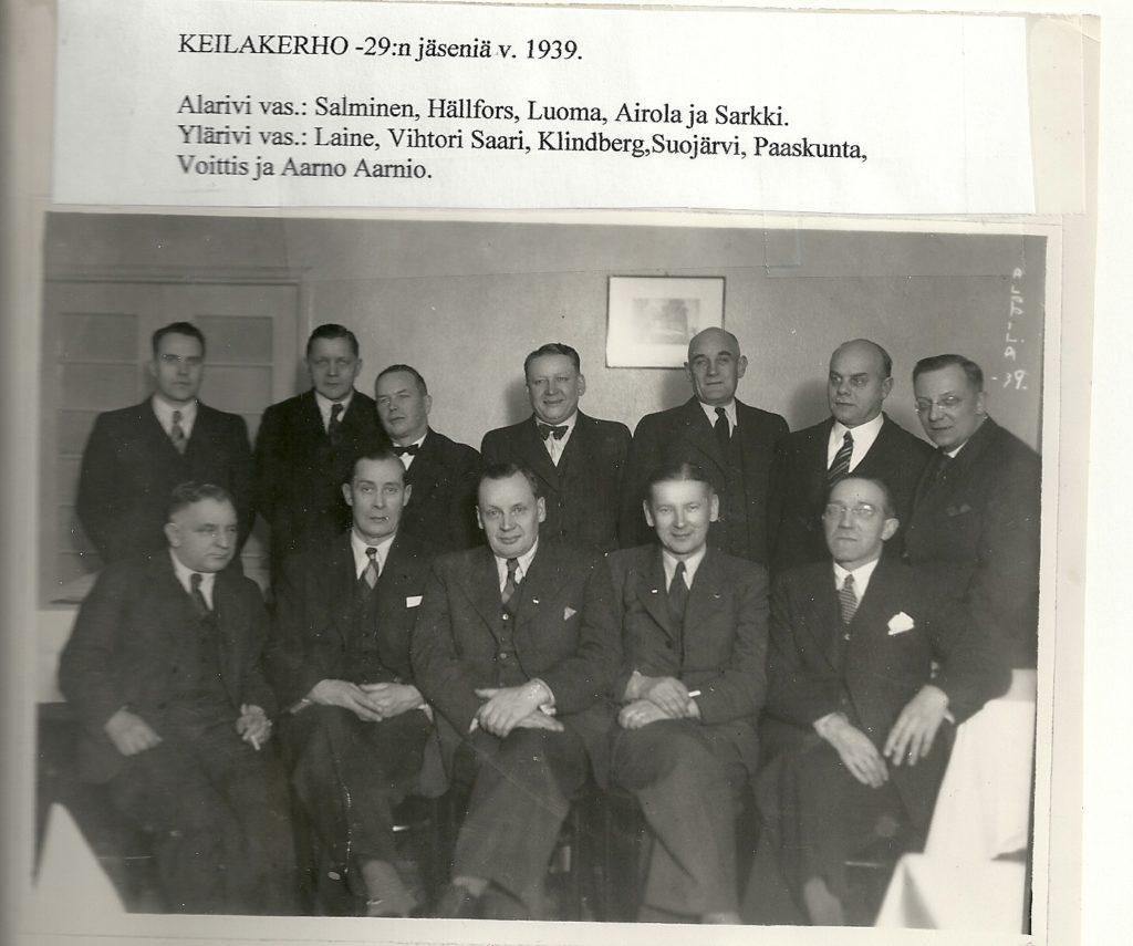 Jäseniä vuodelta 1939